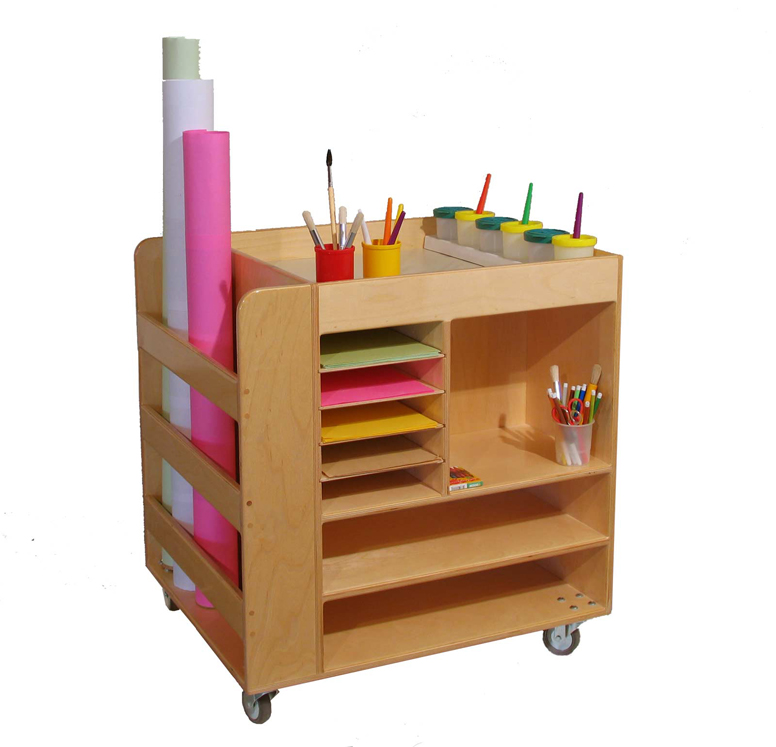 Mainstream Art Supply Cart, 30''w x 25''d x 32''h