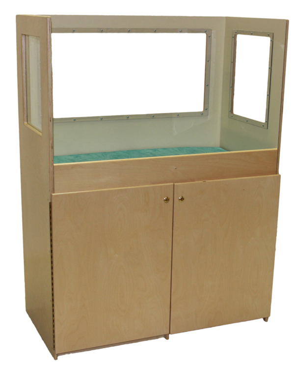 Mainstream Changing Table with Clear Splash Guard Panels, 42''w x 21''d x 60''h