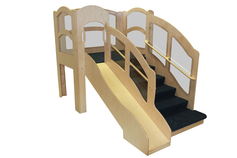 Mainstream Adventurer 5 Toddler Wave Loft, 54''w x 86''d x 60''h, 28''h