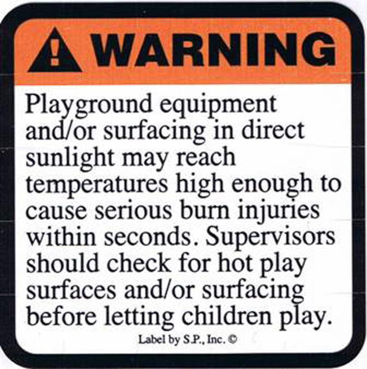 Hot Surface Warning Labels