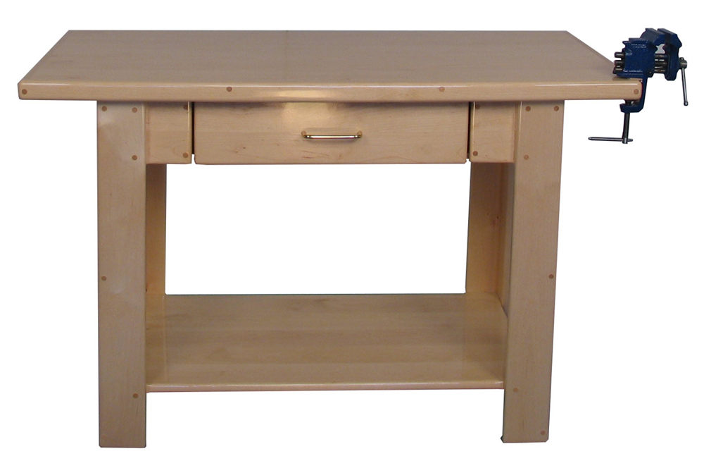 Deluxe School Age Workbench with Drawer, Lower Shelf and Vise, 32''h