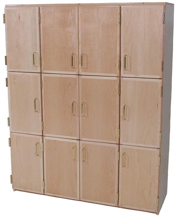 Deluxe Lockers with Doors for 12