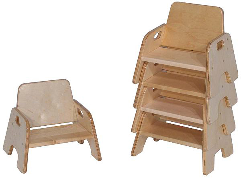Deluxe Older Toddler Stack Chair, 8''h Seat