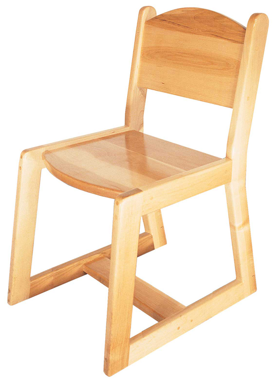 Deluxe Adult Maple Chair, 18''h
