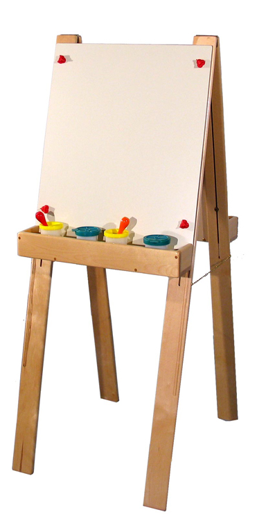 Deluxe Adjustable Double Easel, Almond Laminate (School Age Shown)