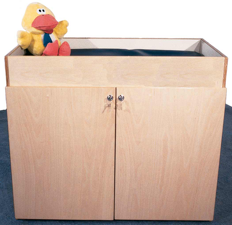 Deluxe Changing Table with Laminate, Mattress, 42''w x 21''d x 36''h (Mainstream Shown)