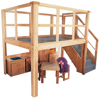 Deluxe School Age Navigator 2000 Loft, 134''w x 78''d x 105''h Overall, 60''h Deck (Preschool Shown, Other Furniture Not Included)
