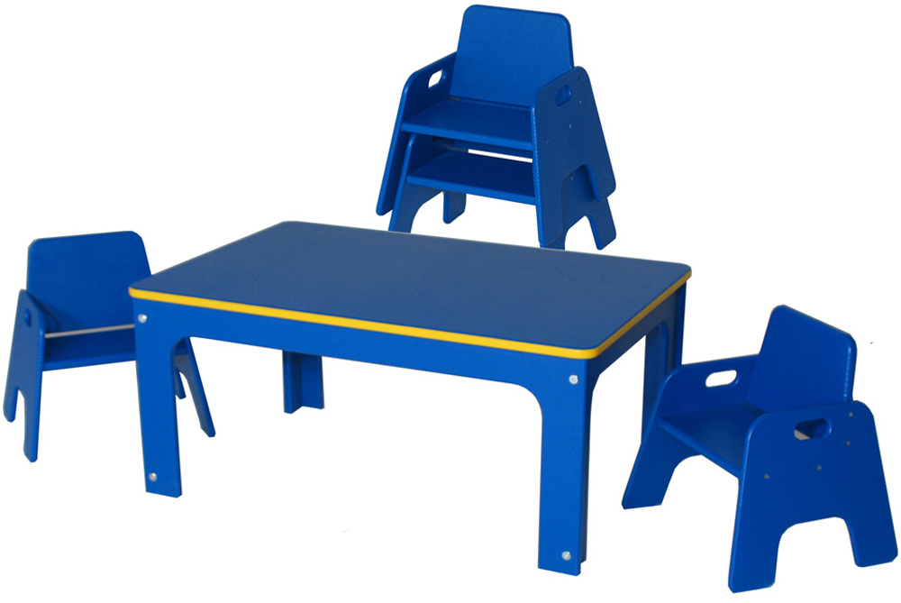 DuraBuilt Indoor Outdoor Toddler Table and Stack Chairs Set