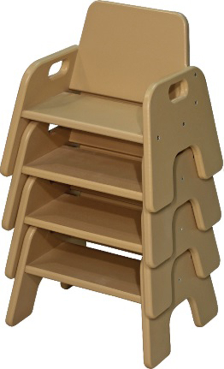 DuraBuilt 'Natural or Bright Colors' Indoor Outdoor Toddler Stack Chair Choose Size 5
