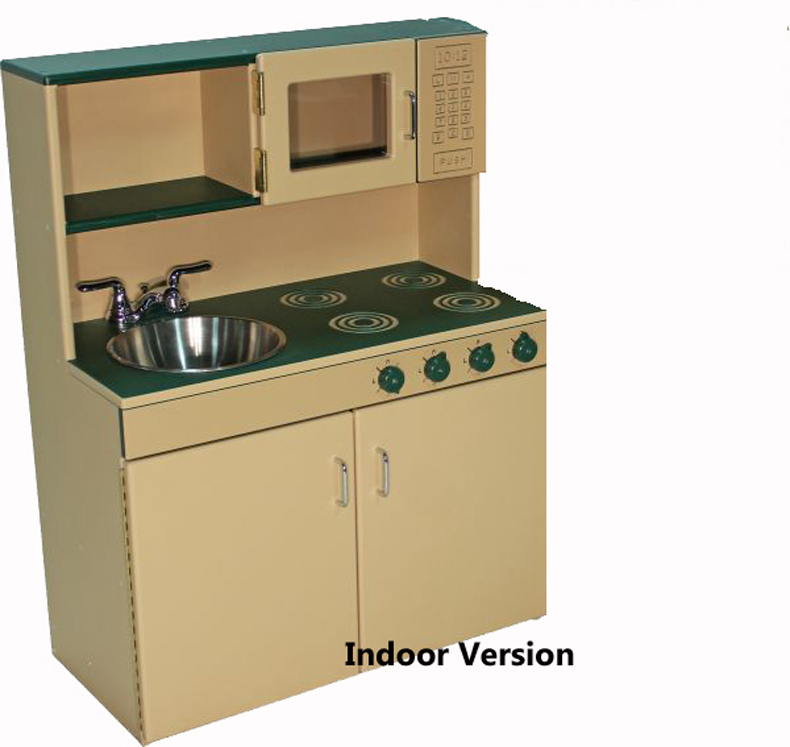 DuraBuilt Indoor Combo Kitchen Set, Preschool & School Age Versions Available