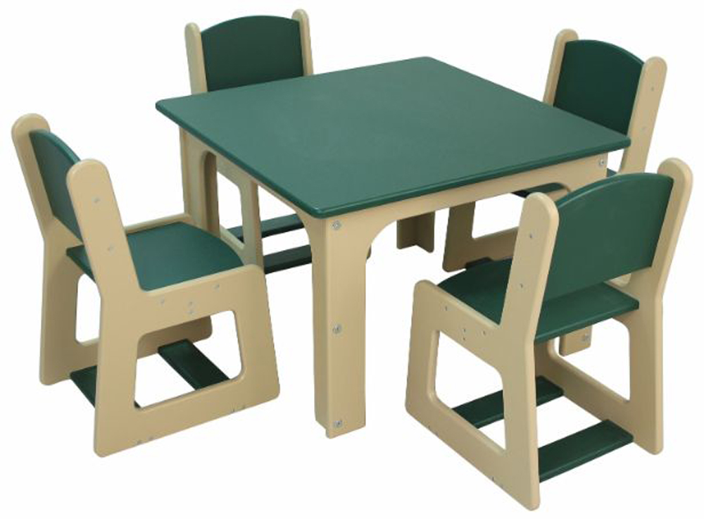 DuraBuilt Indoor/Outdoor Preschool Table and Chair Set
