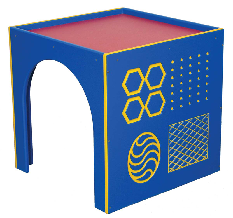 Outdoor Infant Toddler Socialization Cube with Texture Panel