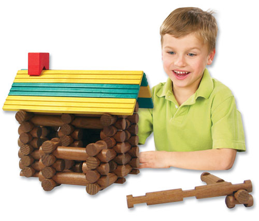 Frontier Logs - 300-Piece Set with Plastic Figures