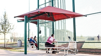 Cantilever Umbrella with 8' Eave Height, In Ground, No Glide