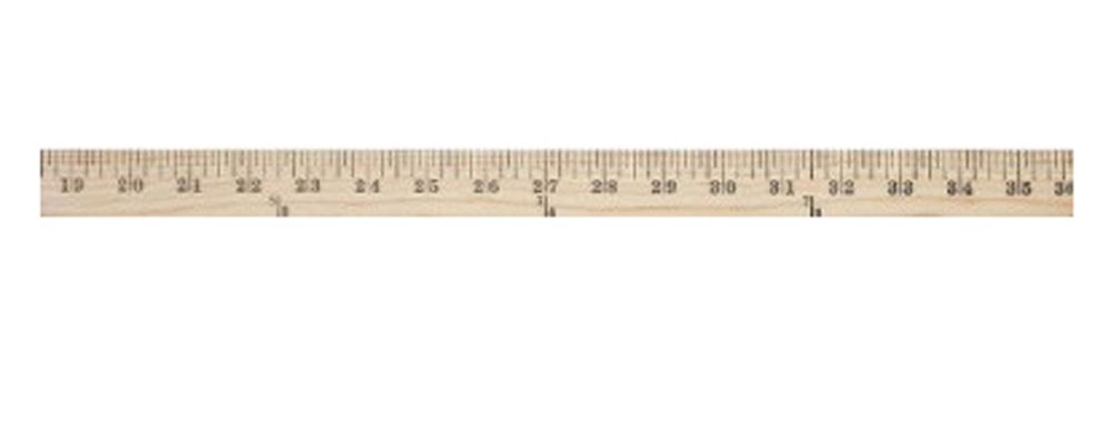 Westcott Wood Yardstick Ruler with Hang Hole, 36