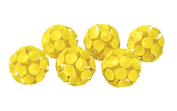 Stick-A-Balls, Yellow - Set of 6