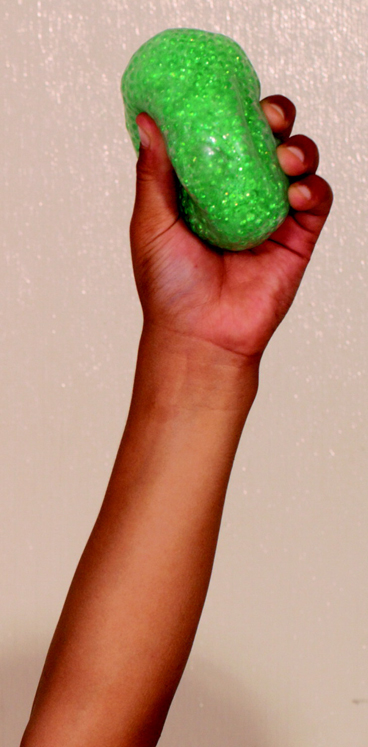 Funfidget E-Z Squeeze Ball, Glitter, Each