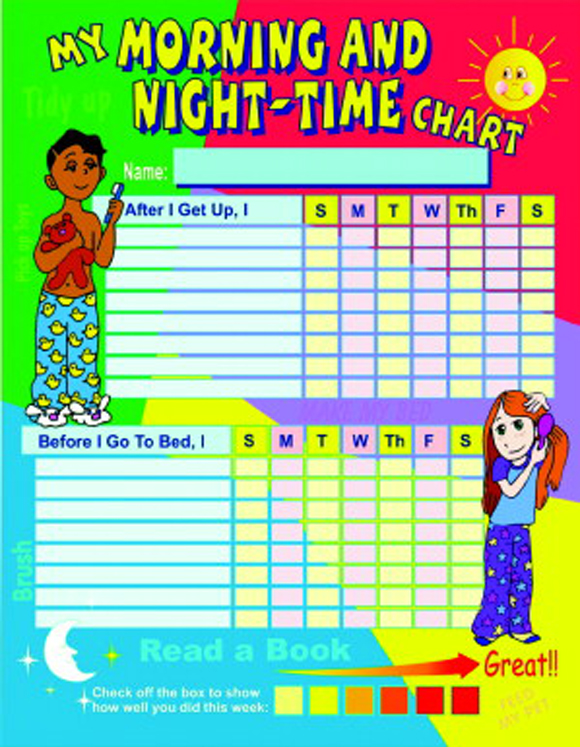 My Morning and Night time Laminated Chart Set - Set of 3