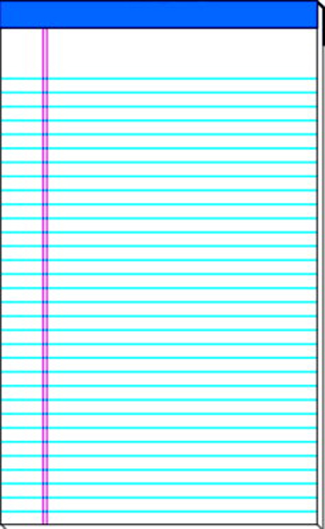 School Smart Perforated Stapled Standard Legal Pad, 50 Sheets, Sulphite Bond Paper, White - Pack of 12
