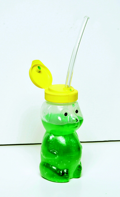 Abilitations Speech Bin Special Needs Mr Juice Bear Straw Drinking Teaching Cup with Three Straws