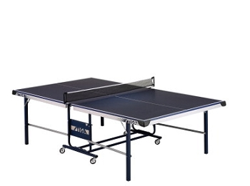Stiga STS 175 Table Tennis Table with Casters, Steel Leg, Blue