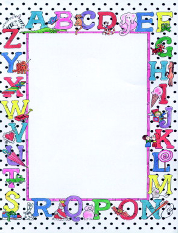 School Specialty Acid-Free Alphabet Design Desktop Publishing Paper - 100 Sheets - Pack of 100