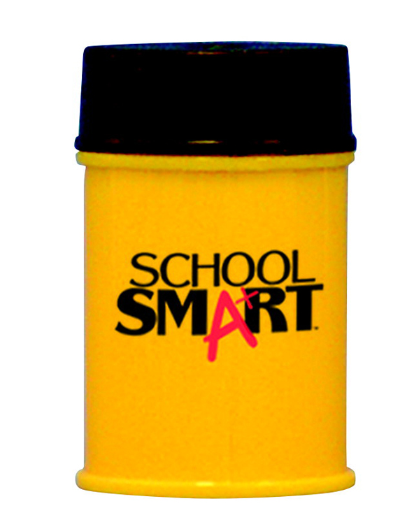 School Smart 1-Hole Metal Barrel Sharpener for Regular Size Pencil
