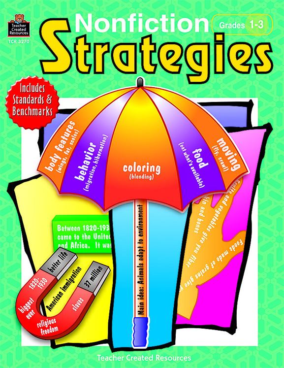 Non-Fiction Strategies Activity Book - 176 Pages - Grades 1 to 3
