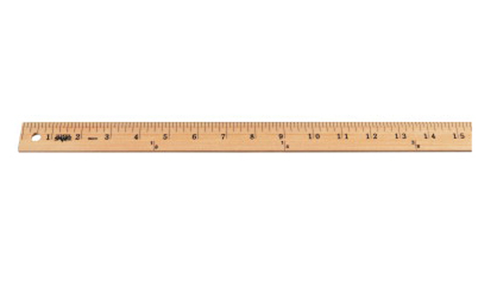 School Smart Plain End Wood Yardstick, Clear