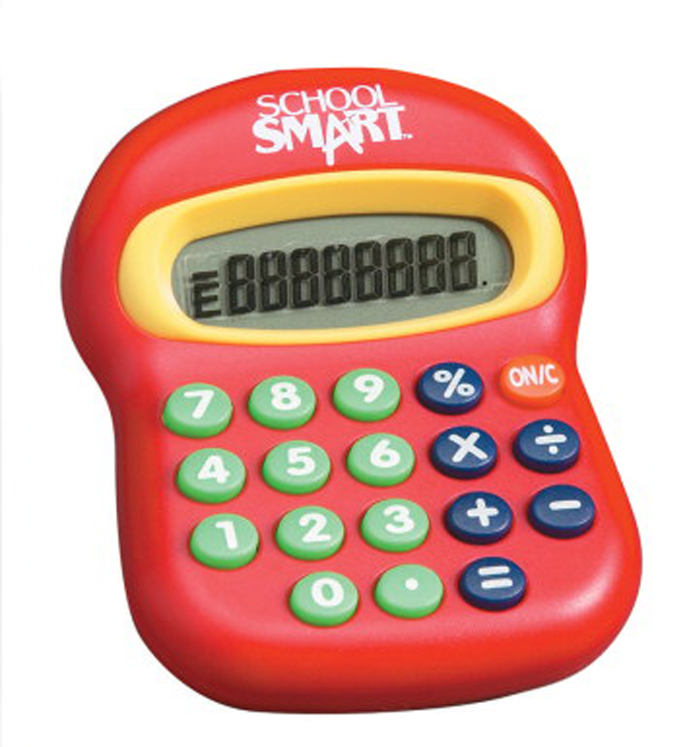 School Smart 8-Digit Large Beginner Calculator, Basic Math