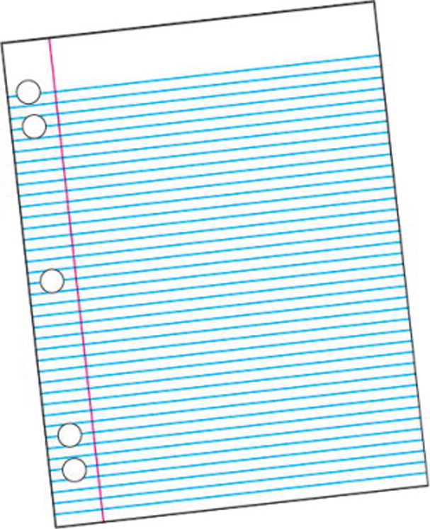School Smart Sulphite 3-Hole Punched Theme Pad, White - 100 Sheets