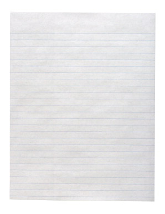School Smart Sulphite Long Way Ruled Paper without Margin, White - Pack of 500