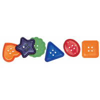 Chenille Kraft Assorted Shape Colossal Button, 1-3/4