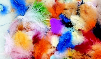 School Smart Maribu Feather - Assorted Color, 1/2 oz - Pack of 150