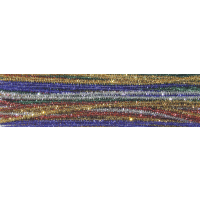 Chenille Kraft Creativity Street Jumbo Stem Multi-Purpose Wire Pipe Cleaner - Assorted Sparkle Color - Pack of 100