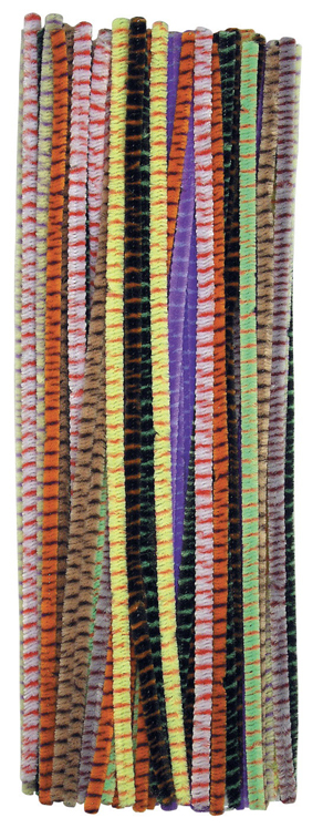 Chenille Kraft Creativity Street Polyester Flexible Jumbo Striped Stem Wire Pipe Cleaner - Assorted Color - Pack of 100