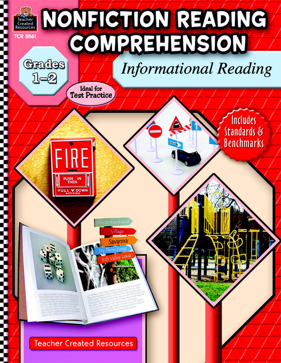Non-Fiction Reading Comprehension: Informational Reading Workbook, Grades 1 - 2 - 144 Pages
