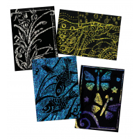 Scratch-Art Scratch Board Artists Trading Card, 10 Point Thickness, Traditional - Pack of 52