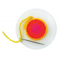 School Specialty Plastic Canvas Circle, 4-1/4