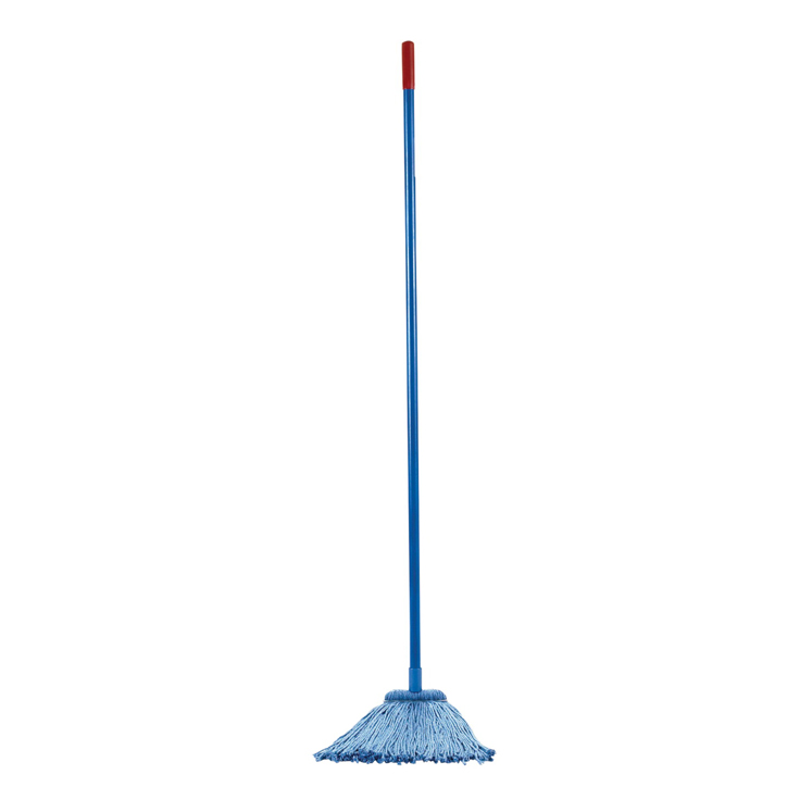 Layflat Mop Combo Kit - (2) 16 oz Heads with Handle, Screw, Blue