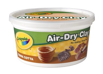 Crayola Air-Dry Easy-to-Use Durable Non-Toxic Self-Hardening Modeling Clay, 2.5 lb Bucket, Terra Cotta