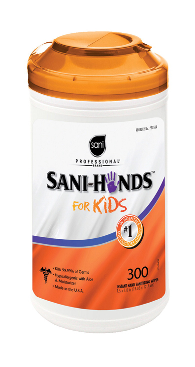 Sani-Hands 4 Kids Instant Hand Sanitizing Wipe - 300 Sheets, 7-1/2