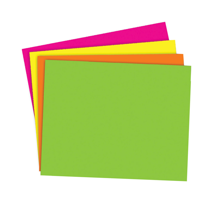 School Smart Poster Board - Assorted Neon Color - Pack of 25