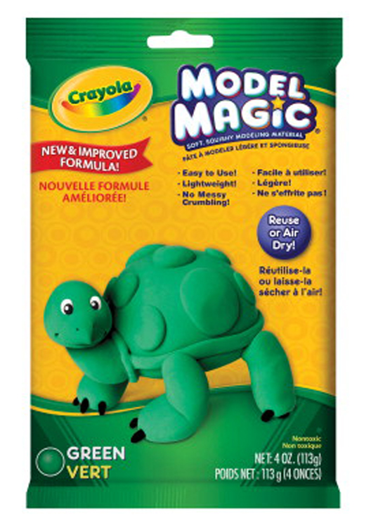 Crayola Model Magic Non-Toxic Mess-Free Modeling Dough, 4 oz, Green