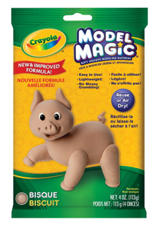 Crayola Model Magic Non-Toxic Mess-Free Modeling Dough, 4 oz, Bisque