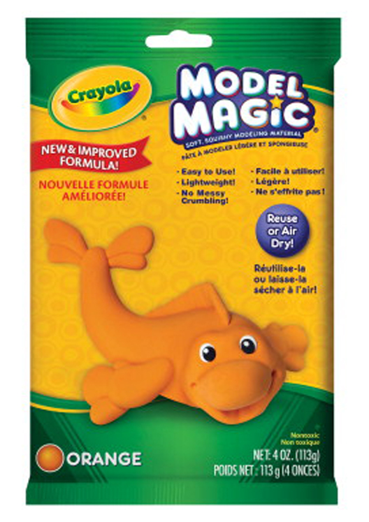 Crayola Model Magic Non-Toxic Mess-Free Modeling Dough, 4 oz, Orange