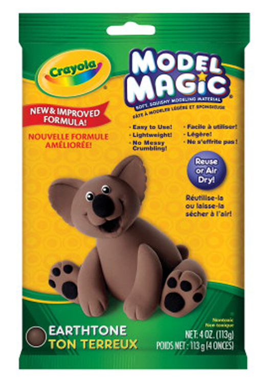 Crayola Model Magic Non-Toxic Mess-Free Modeling Dough, 4 oz, Earthtone