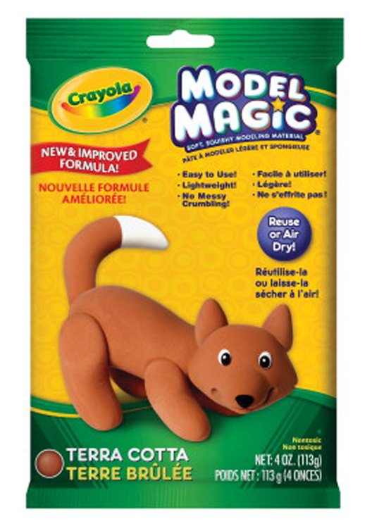 Crayola Model Magic Non-Toxic Mess-Free Modeling Dough, 4 oz, Terra Cotta