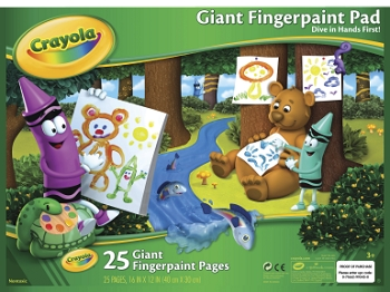 Crayola Giant Finger Paint Pad, White - 25 Sheets