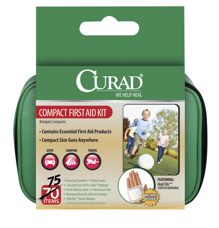 Curad 70-Piece Compact First Aid Kit, 5-1/2